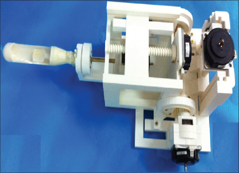 Figure 5: Robotic system for prostate therapy designed using three-dimensional printing